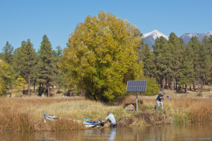 Make a Difference Day volunteer community effort to restore Frances Short Pond at Thorpe Park, October 24, 2015, Flagstaff